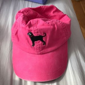 Black Dog Pink Hat